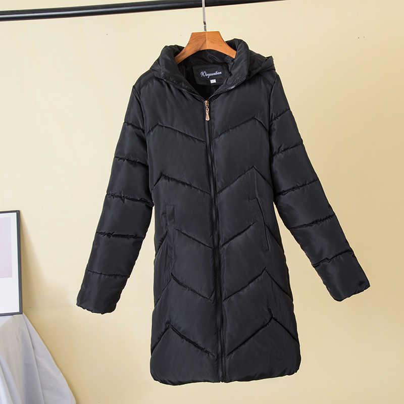 เสื้อแจ็คเก็ตผู้หญิงฤดูหนาว 2020 เสื้อนอกหญิงยาวสบายลง PUFFER JACKET Parka ตรา PLUS ขนาด 7XL ผู้หญิงเสื้อ