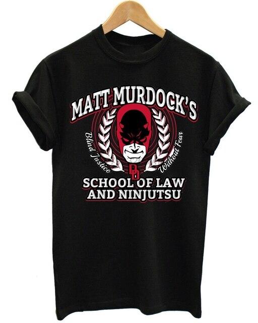 DARE DEVIL Matt Murdock School of Ninjutsu camisa Dos Homens T