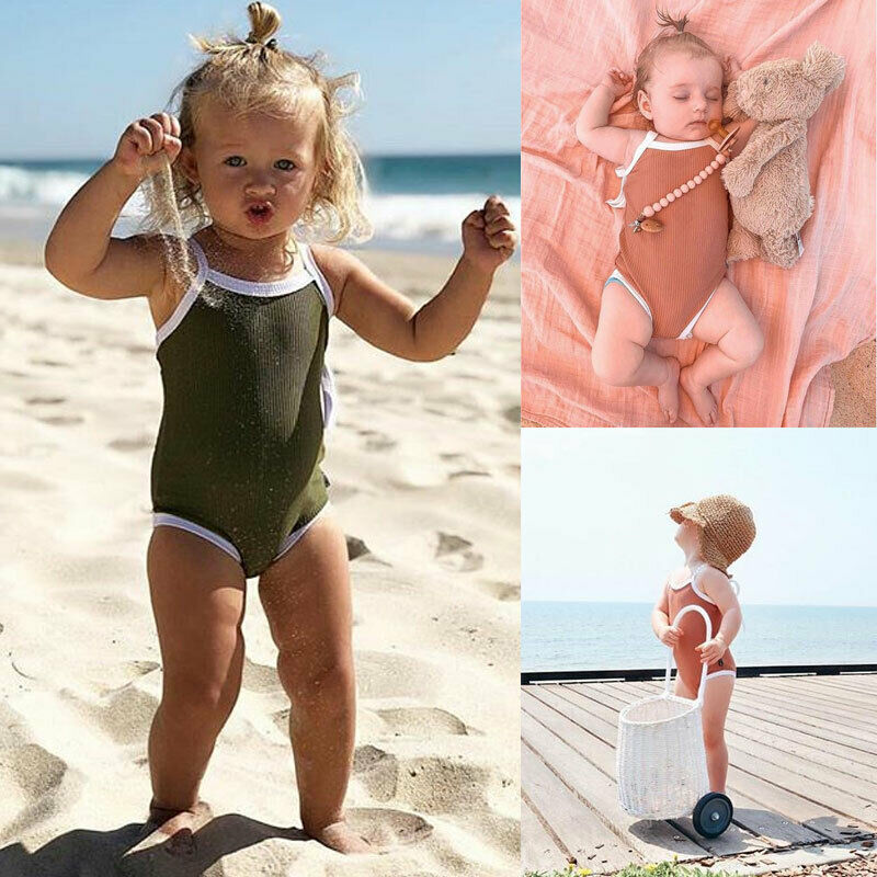 Newborn Summeer Children Kid Baby Girl Swimwear Swimsuit One-piece Bikini Beachwear Suit