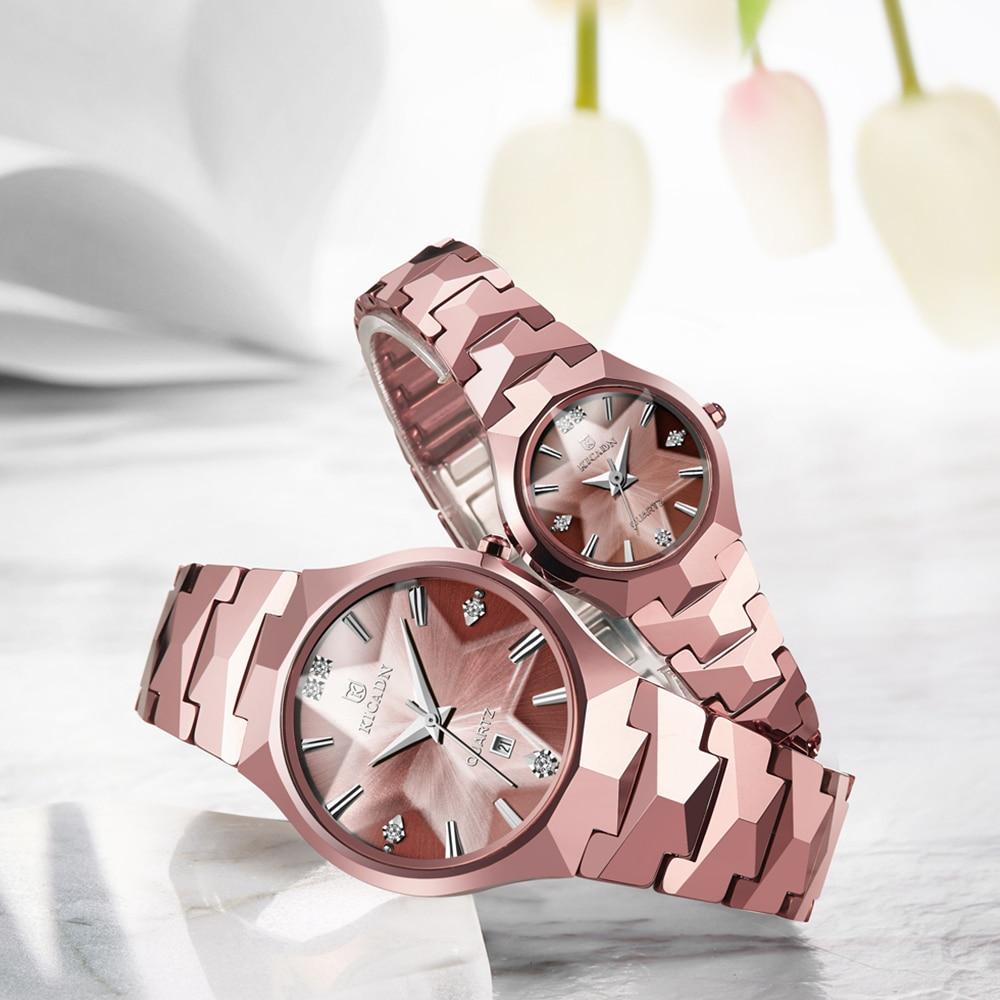 NAKZEN Classic Women Men Watches Generous Couple's Elegant Watch Top Quality  Tungsten Steel Wristwatch Gift Watch For Lovers