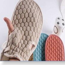 Double-Sided Soft Washcloth Shower Gloves Bath Mitten Massage Mitt For SPA Showering Skin Exfoliating Body Scrubber Glove