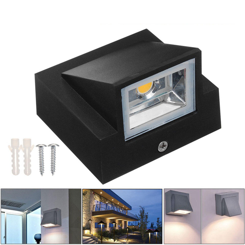 IP65 Waterproof 5W 10W  indoor outdoor Led Wall Lamp modern Aluminum Surface Mounted Cube Led Garden Porch Light AC110V- 220V