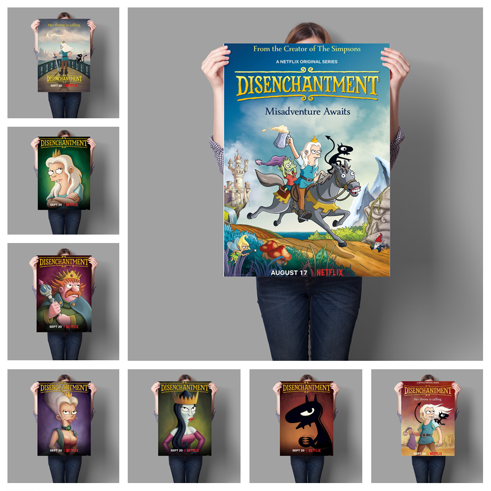 Cartoon Cute Disenchantment Poster Children's Room Decorative Wall Art Painting Poster Art Decor Canvas Painting A497