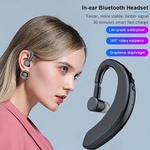 Y10 TWS Bluetooth 5.0 bezprzewodowe słuchawki stereofoniczny zaczep na ucho słuchawki sportowe biznes jazdy zestaw głośnomówiący z mikrofonem zestaw słuchawkowy