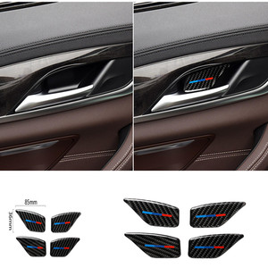Image 1 - For BMW 5 Series G30 G38 528i 530i 2018 Carbon Fiber Decal Car Door Inside Handle Bowl Cover Car Sticker Auto Interior Styling