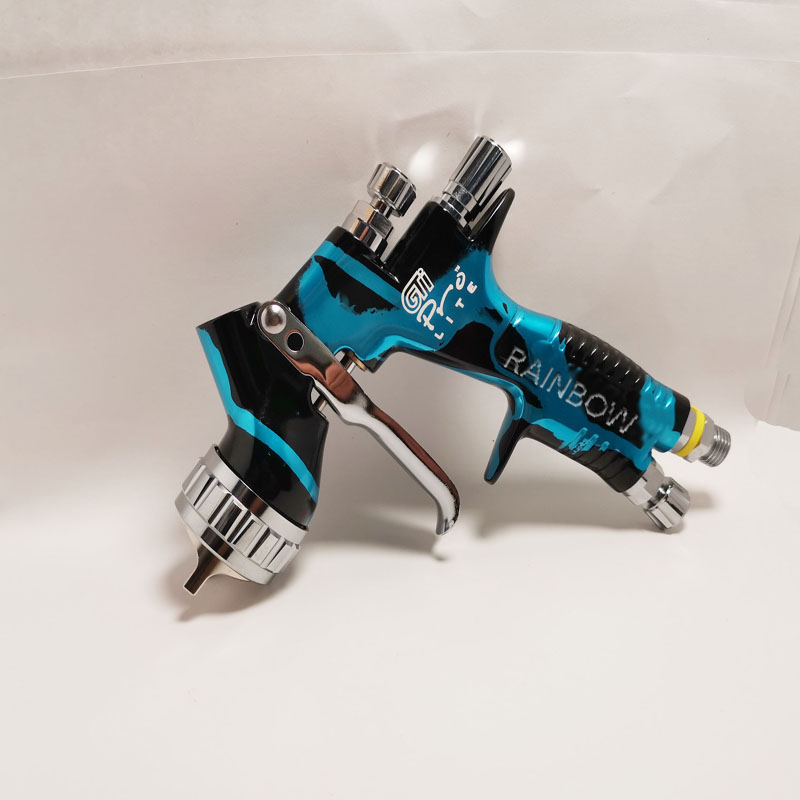 2020 Camouflage GTI PRO LITE HVLP + Spray Paint Gun Fluid Tips 1.3mm Tips With Tank Car Paint Tool Pistol Spray Gun