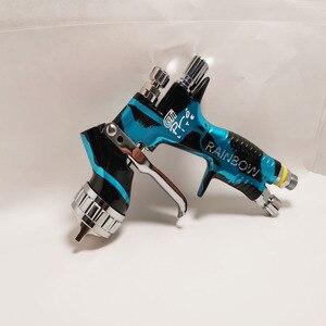 2020 camuflaje GTI PRO LITE HVLP + pistola de pintura en aerosol puntas de fluido 1,3mm Puntas con tanque herramienta de pintura de coche pistola PISTOLA DE PULVERIZACIÓN
