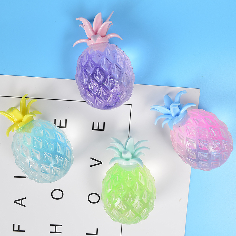 Originality Vent Decompression Toys New Peculiar Toys Gold Powder Pineapple Vent Ball Toys  Squeezed Happy Anti Stress Reliever