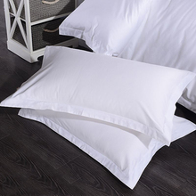 1pcs Hotel Pillow Case 60x90cm 40S 60S Tribute Silk For Five-Star Hotels Satin Solid Color Cotton Home Hotel Pillow Case 1pc five star hotel bedding pillow 100