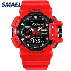 S choque esporte relógio para homem 50 m à prova dwaterproof água relógio digital militar do exército masculino 1436 wwatch moda relogio masculino luxo
