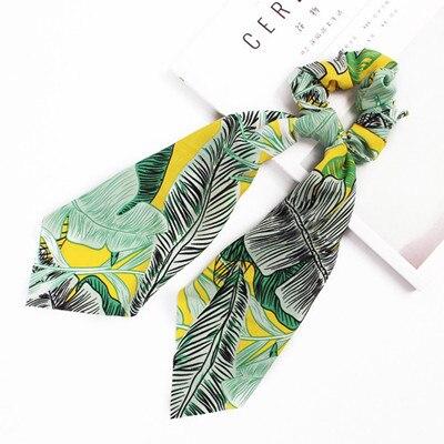 Модный летний шарф «конский хвост», эластичная лента для волос для женщин, бантики для волос, резинки для волос, резинки для волос с цветочным принтом, ленты для волос - Цвет: S5