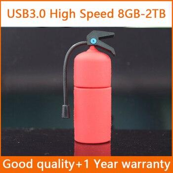 Newest Cute Fire Extinguisher USB Flash Drive 3.0 Pen Drive Memory Stick 1TB 2TB Pendrives 8GB 32GB USB Stick Pendrive 16GB 64GB