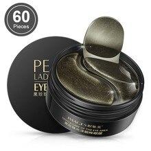 Black Pearl Collagen Mask Natural Moisturizing Gel Eye Patchesลดความหมองคล้ำAnti Ageกระเป๋าEye Wrinkle 60ชิ้นผิวcare