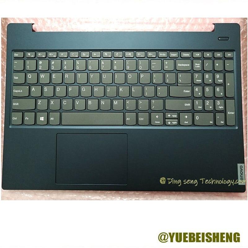 YUEBEISHENG 95% Новый Для LENOVO xiaoxin 15IWL 2019 S340-15 Упор для рук США клавиатура верхняя чехол сенсорная панель, синий