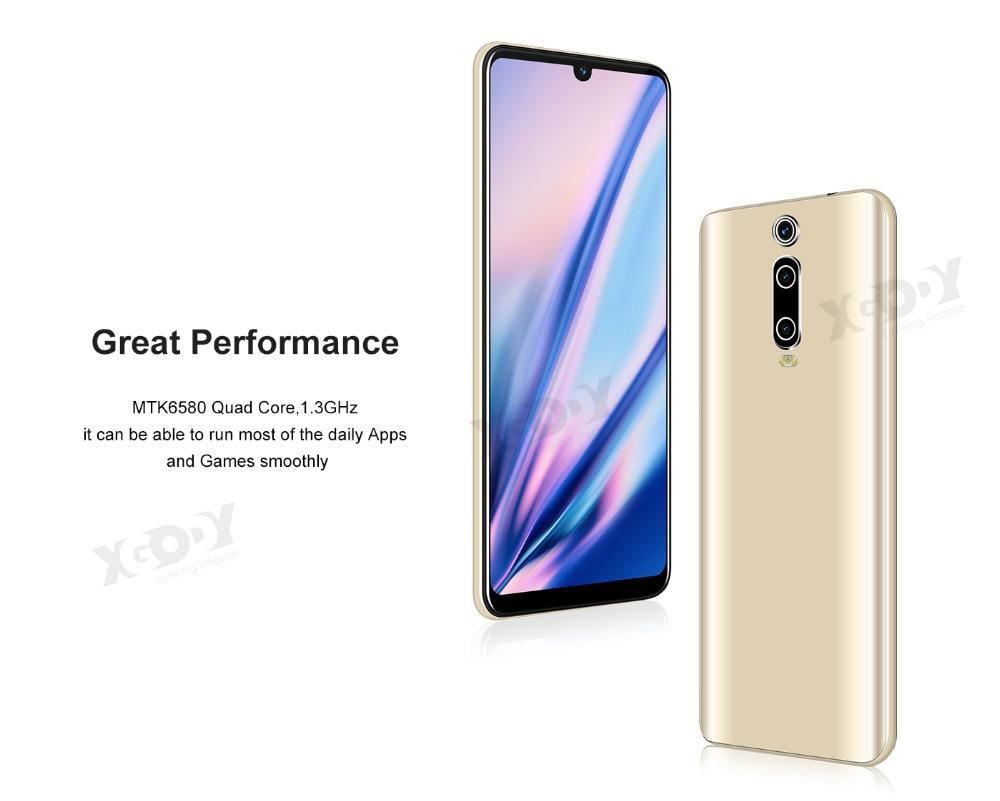 H95355a1a6fe54f9ba59a9dc1fe51b54a7 XGODY 3G Mobile Phone 9T 1GB 4GB 6.26'' QHD Screen MTK6580 Quad Core Android 9.0 Waterdrop Full Screen 2800mAh Smartphone