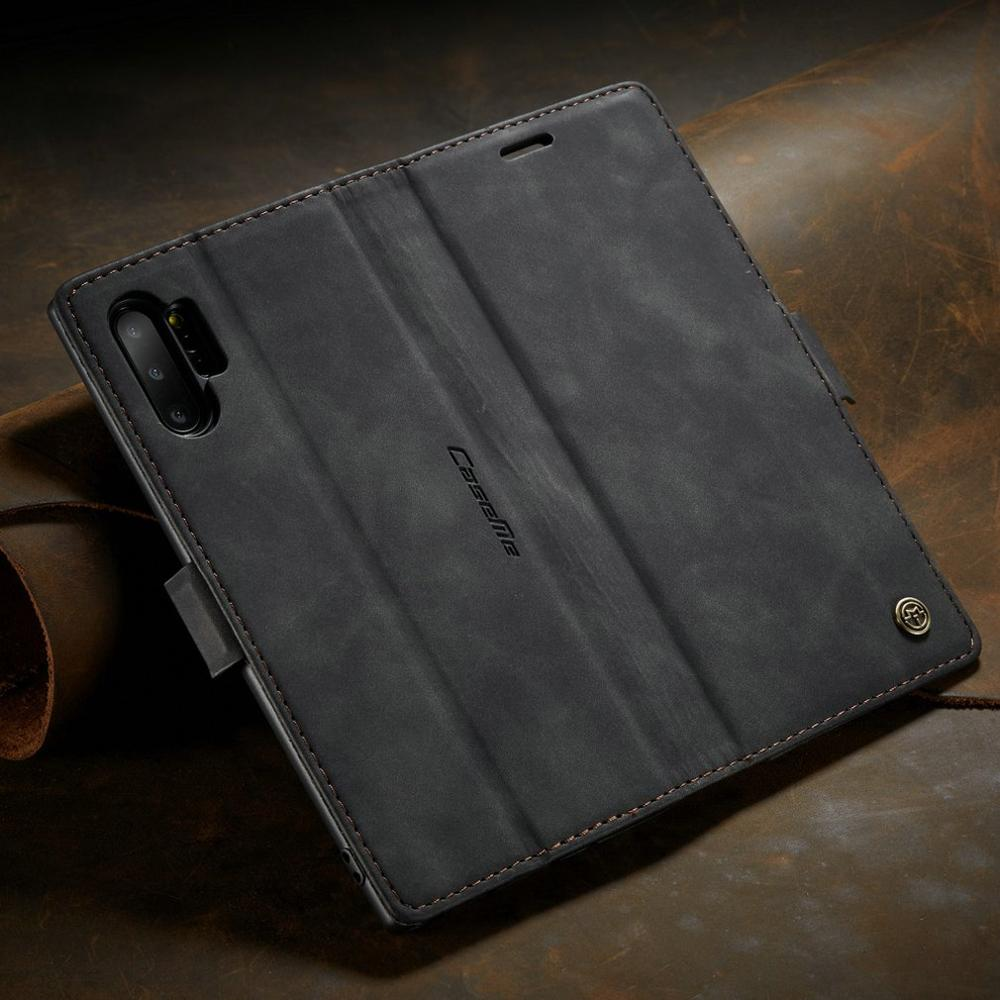 Caseme013 Ultra-Thin Business Wallet Mobile Phone Case Fashionable Mobile Phone Wallet Holster For Samsung Galaxy Note 10 Plus