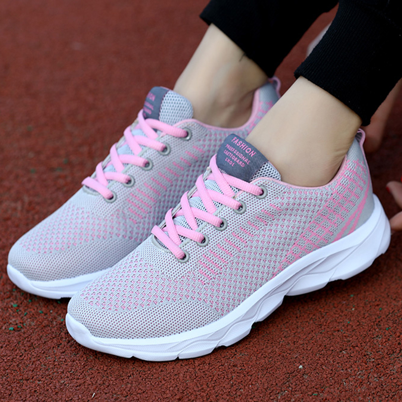 New Lightweight Tenis Sport Sneakers Soft Fitness Shoes Women Trainers Breathable Walking Vulcanize Shoes Sapatos De Mujer 2020