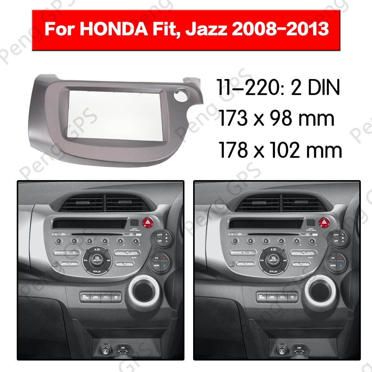 2 Din Car Radio stereo Fitting installation fascia For HONDA Fit Jazz 2008-2013 Stereo Frame Fascias Mount Panel DVD CD trim ABS