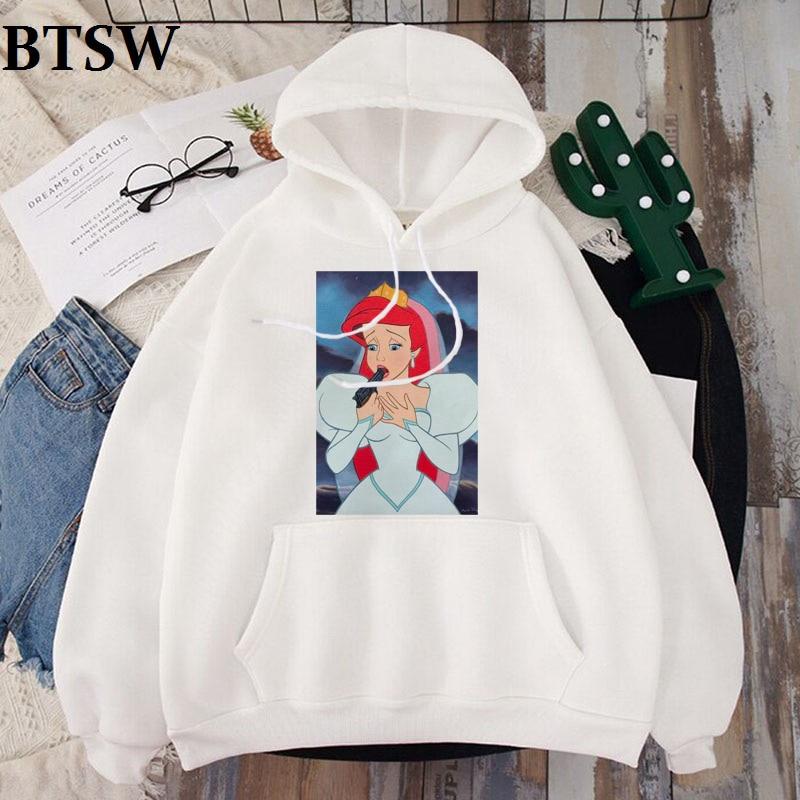 Spoof Funny New Snow White Princess Print Long Sleeve Hoodies Cartoon Casual Tops Female Hoodie Harajuku Winter Fashion Hoody