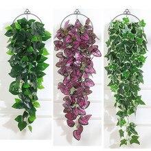 Plantas colgantes Artificiales de 97cm, Hojas verdes de plástico, decoración de plantas falsas Para fiesta en la jungla, 1 Uds.