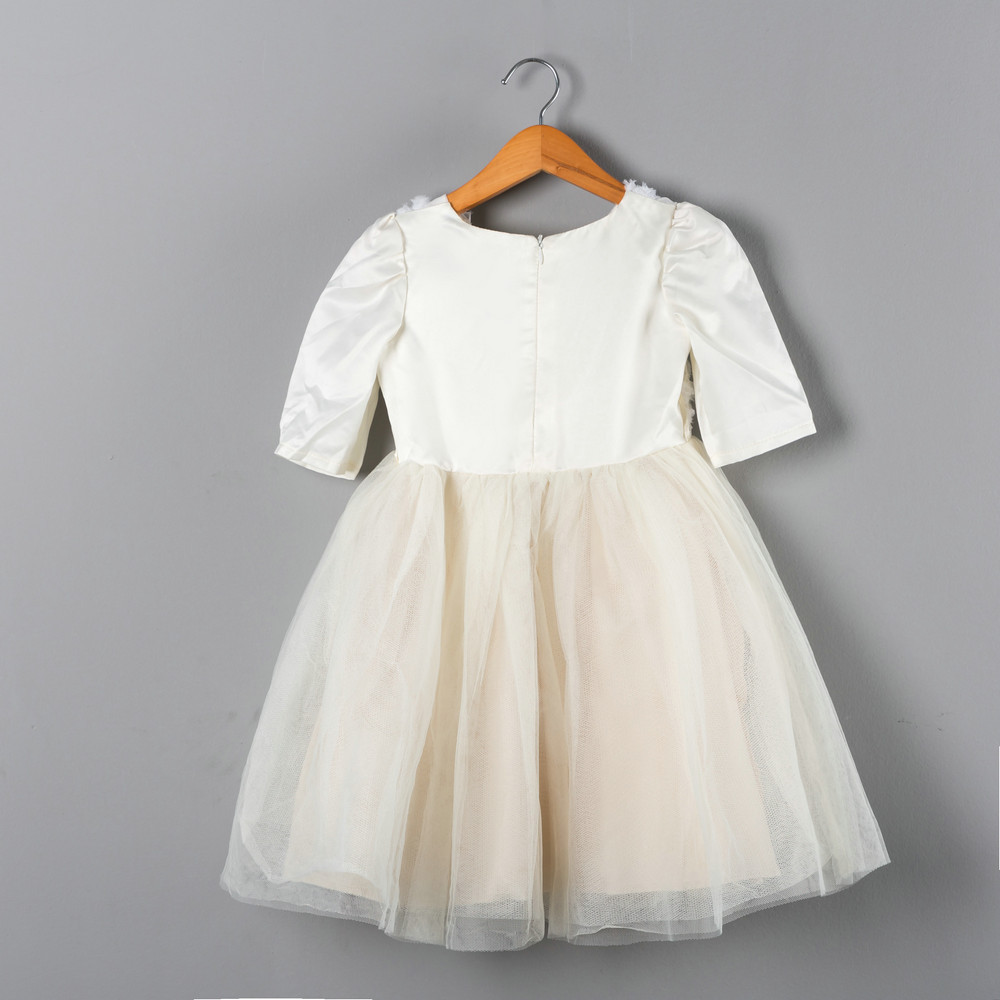 First Communion Dresses For Girls Cute Little Girl Clothes Half Sleeve Sequin Lace Toddler Baby Girl Dress