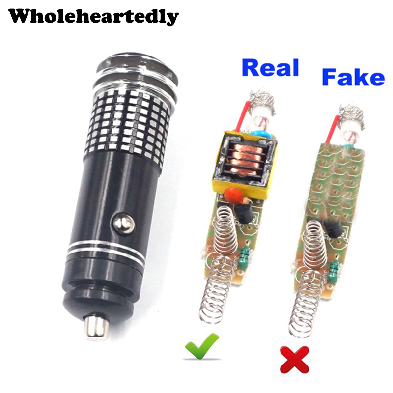 12V Real Mini Car Anion Oxygen Bar Ozone Ionizer Air Purifier Cleaner Fresher Car Car Air Purifier Car Oxygen Bar Ionizer