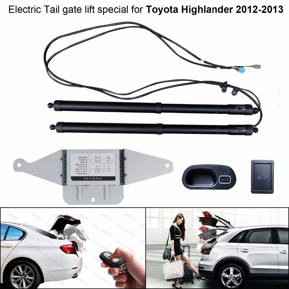 Car Electric Tail Gate Lift Special For Toyota Highlander 2012-2013 Easily For You To Control Trunk With Latch