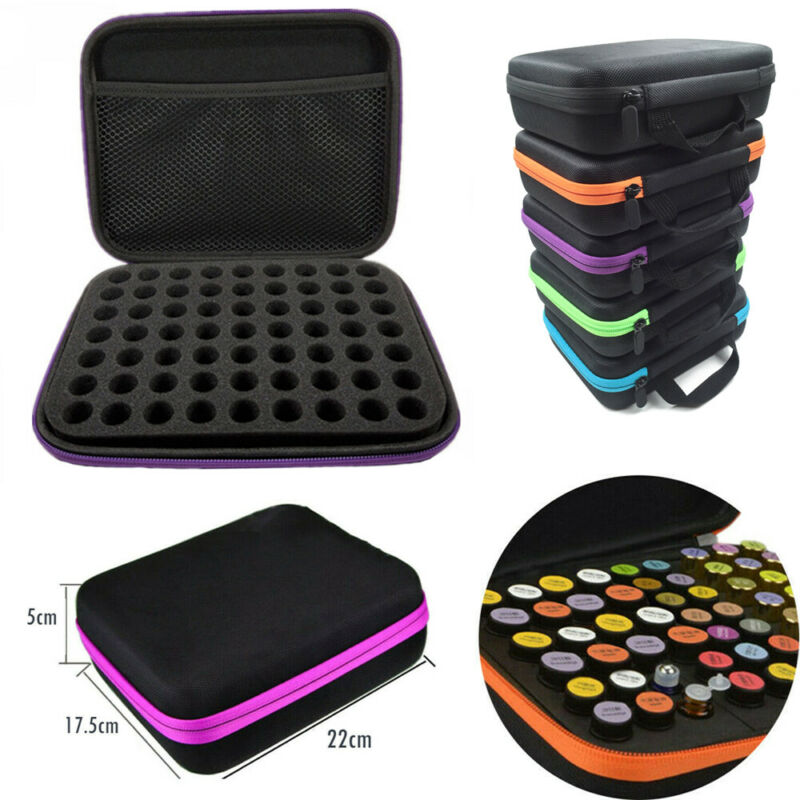 63 Bottles Of Essential Oil Perfume Oil Essential Oil Box Travel Storage Bag For Carrying Portable Support Nail Polish Pouch