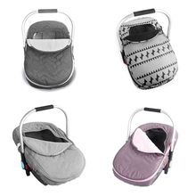 Newborn Baby Basket Car Seat Cover Infant Carrier Winter Cold Weather Resistant Blanket Style Canopy