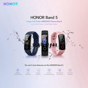 Image 4 - Huawei Honor להקת 5 הגלובלי גרסה חכם להקה עמיד למים AMOLED תצוגת כושר שינה Tracker דם חמצן חכם צמיד שעון