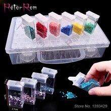 цена на Diamond Painting Tool Rhinestone 64 Lattice Transparent Plastic Storage Box Diamond Embroidery 64/20 Grids Jewelry Storage Box
