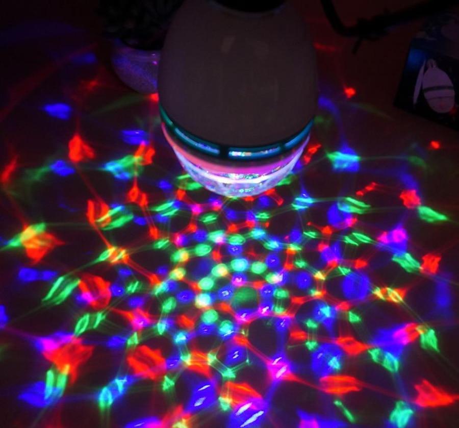 Led RGB Night Light E27 LED Bulb 3W Colorful Lamp 85-265 AC 110V 220V Night Lamp Auto Rotating Party Holiday Decoration Lighting