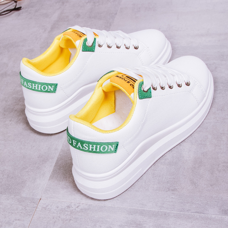 2019 Summer Autumn Woman Shoes Fashion New PU Leather Ladies Breathable Flats Casual White Sneakers