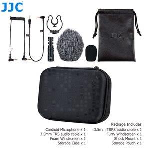 Image 5 - JJC Cardioid Microphone Cho Máy DSLR Máy Ảnh Không Gương Lật Video Máy Quay Phim Điện Thoại Máy Tính Bảng Đầu Ghi Micro Cho Vlogger Cuộc Phỏng Vấn