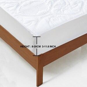 Image 5 - MECEROCK – Protecteur de matelas imperméable et épais, housse matelassé de couleur unie et de type drap housse, coussin doux, pour lit