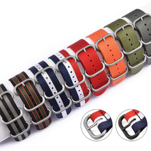 20mm 22mm Navy White For Diver 3 Keepers NATO Waterproof Nylon Strap Watch Band for huawei samsung xiaomi amazfit smart watch for suunto core nylon diver watch strap band kit w lugs 5 ring pdv clasp 20 22 24mm zulu for nato g10 tools