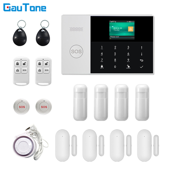 GauTone WIFI+GSM GPRS APP Remote Control Home/Office/Factory Wireless Burglar Security Alarm System For Android and iOS