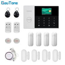 GauTone WIFI + GSM GPRS APP uzaktan kumanda ev/ofis/fabrika kablosuz hırsız güvenlik alarmı sistemi Android ve iOS için