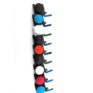 Image 1 - 1 قطعة عصا تحكم تناظرية ثلاثية الأبعاد العصي قطعة بديلة لمستشعر ل نينتندو سويتش NS ل Joy Con تحكم أجزاء إصلاح أسود