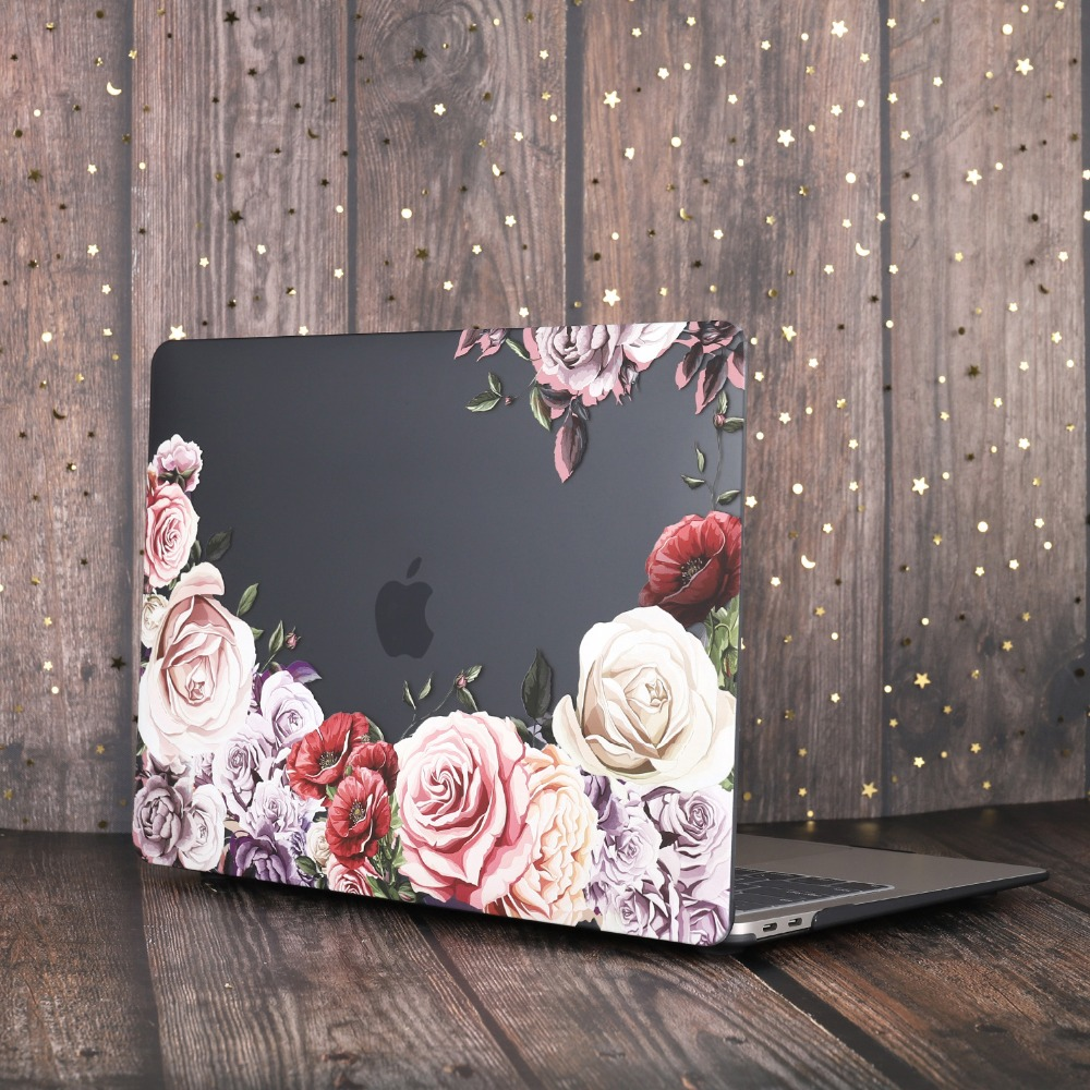 Marble Flower Bling Case for MacBook 84