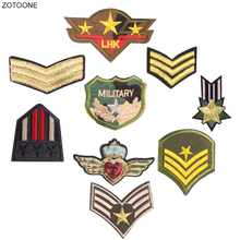 ZOTOONE Iron on Military Patch Army Patches for Clothing T-shirt Badge Embroidered DIY Heat Transfer Sew on Jeans Applique G