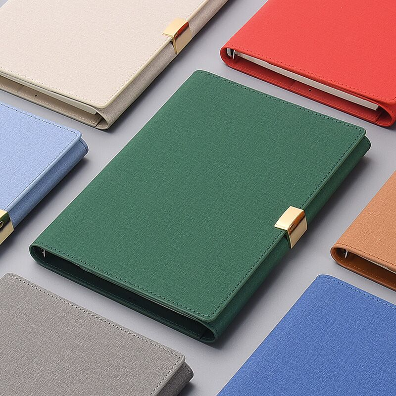 A5 Luxury Business Work Loose-leaf Planner Organizer Notebook Detachable Agenda 2020 Schedule Notebook Office Lady Diary Notepad
