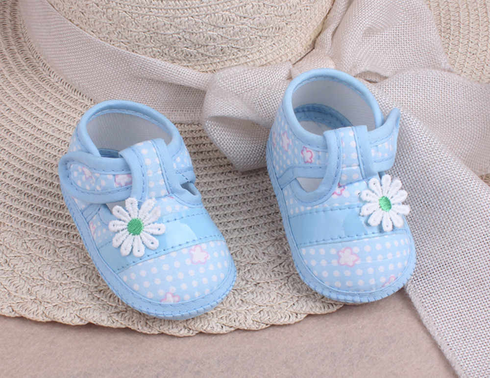 Cute Baby Shoes Girls Floral Bow Toddler Infant Boy Soft Sole Cotton Fabric Hook&Loop Prewalkers Great Gift To Baby Bebek Patik