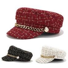 Новая модная кепка Женская Классическая Военная Кадета Дальнобойщик остроконечные городские регулируемые кепки