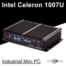 Latest core Celeron 1007U barebone mini pc windows linux ubuntu all compatible mini pc windows 7 industrial fanless design GK(China)