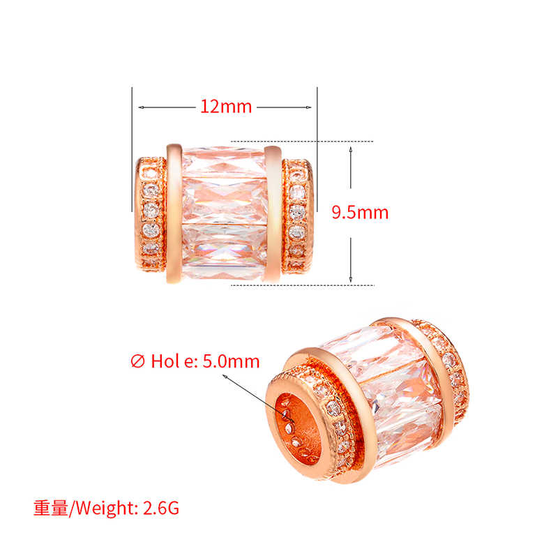 Cuentas espaciador transparente de cristal ZHUKOU de 9,5x12mm para collar de mujer, pulsera, accesorios de joyería, accesorios, modelo: VZ239