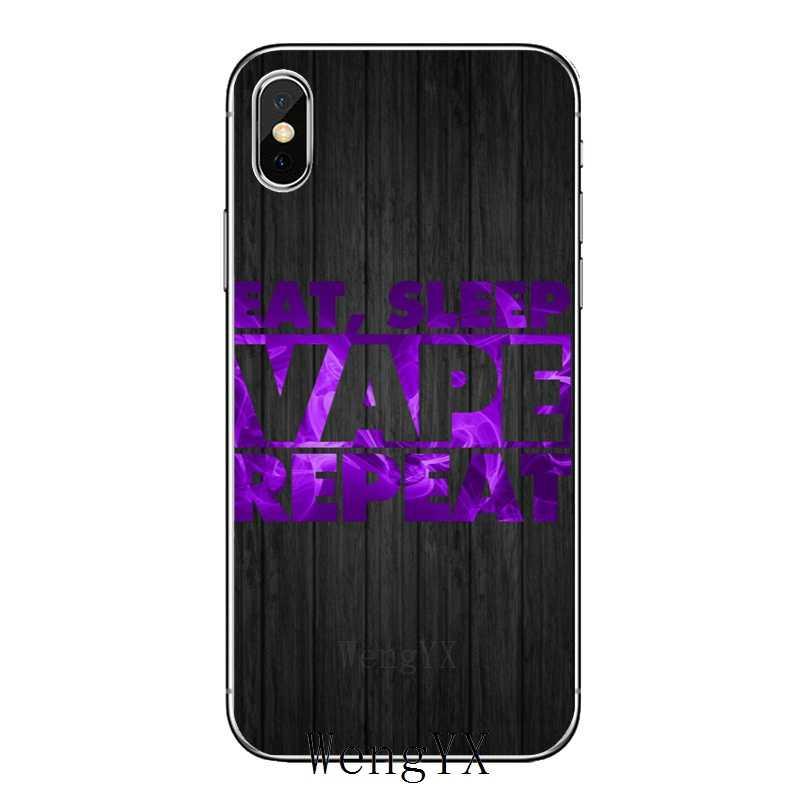 Eat Sleep VAPE Vaping Quotes โทรศัพท์นุ่มสำหรับ OnePlus 3T 5T 6T LG G5 G6 g7 Q6 Q7 Q8 Q9 V20 V30 X Power 2 3 K4 K8 K10