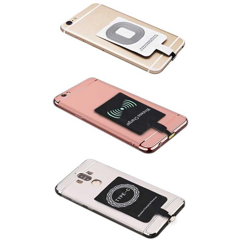 Bezprzewodowa ładowarka odbiornik Pad inteligentny Receptor ładowania dla IPhone 5 5S 7 6S 6 Plus Android Micro USB typ C