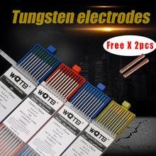Électrodes en tungstène, tiges de soudage tig pour torche de soudage WT20 WC20 WL15 WL20 WP WS2 E3, fourniture professionnelle
