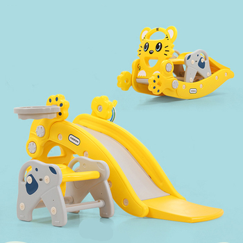 2 In 1 Multifunction Baby Rocking Horse Chair Children's Slide Ride on Animal Toys Creative Baby Birthday Gifts